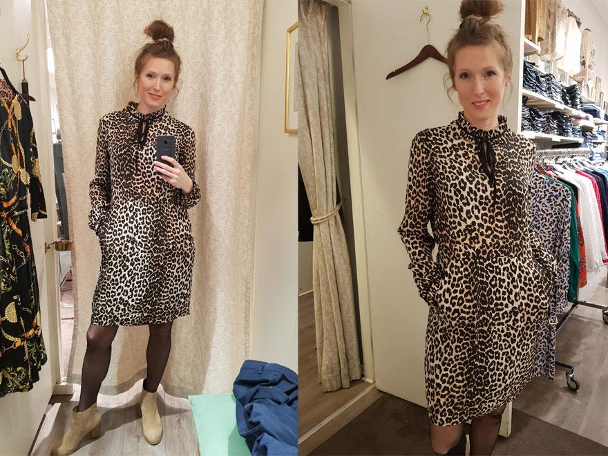 Petra valde denna gång ut sex stycken looks varav två klänningar i snyggt  leopardprint 091b7e3c551ad